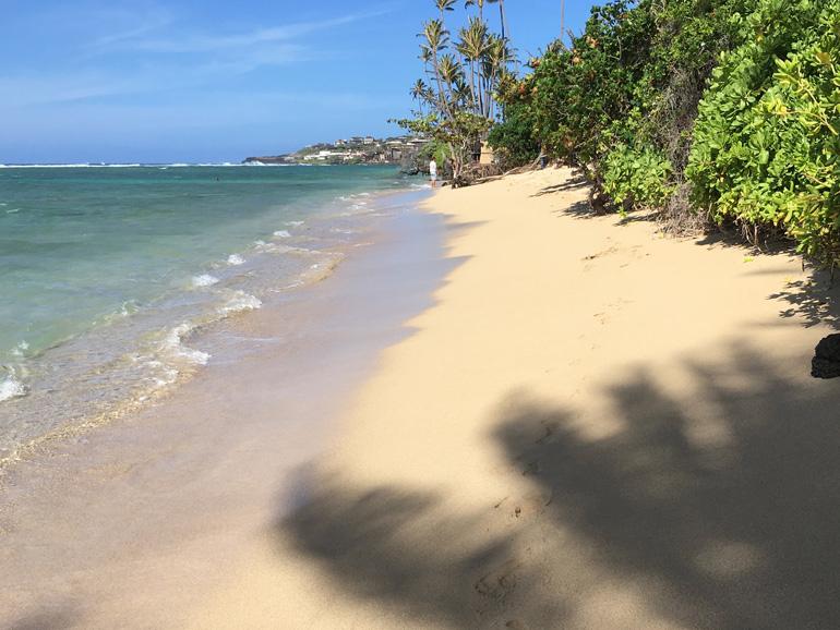 ハワイおすすめジョギングコース   裸足でカハラビーチコース